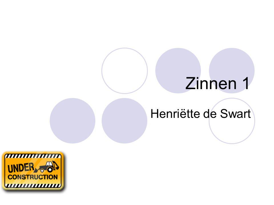 Zinnen 1 Henriëtte de Swart