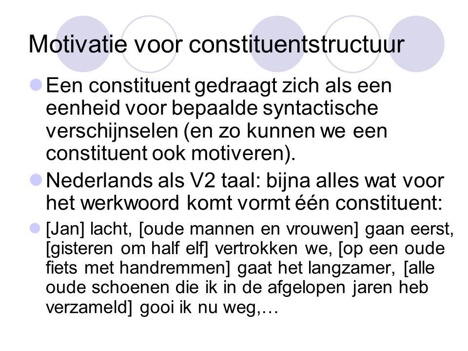 Motivatie voor constituentstructuur