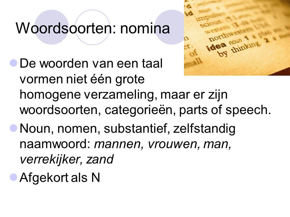 Woordsoorten: nomina