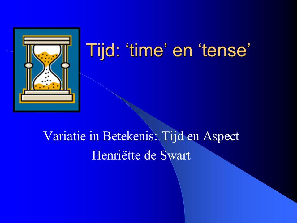 Tijd: 'time' en 'tense'
