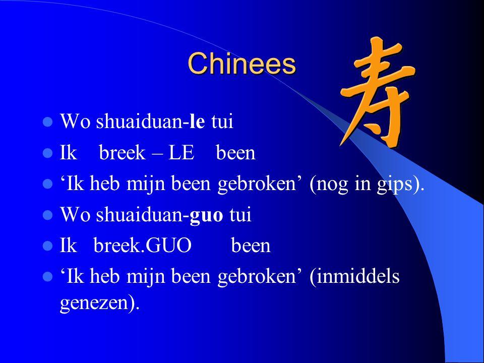 Chinees Wo shuaiduan-le tui Ik breek – LE been
