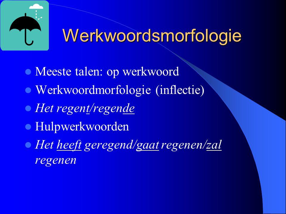 Werkwoordsmorfologie