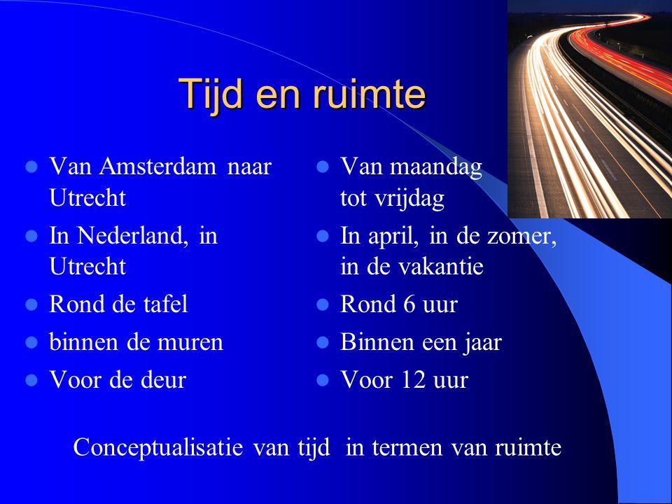 Tijd en ruimte Van Amsterdam naar Utrecht In Nederland, in Utrecht