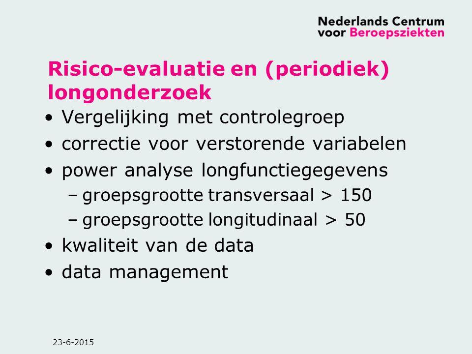 Risico-evaluatie en (periodiek) longonderzoek