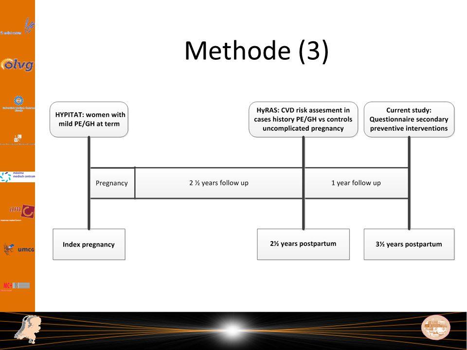 Methode (3) Als we dan weer terug gaan naar de tijslijn die ik eerder liet zien dan zie je in deze figuur het complete plaatje van de studieopzet.