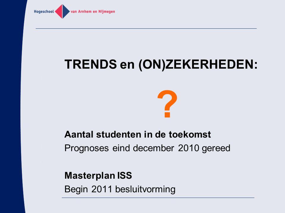 TRENDS en (ON)ZEKERHEDEN: Aantal studenten in de toekomst