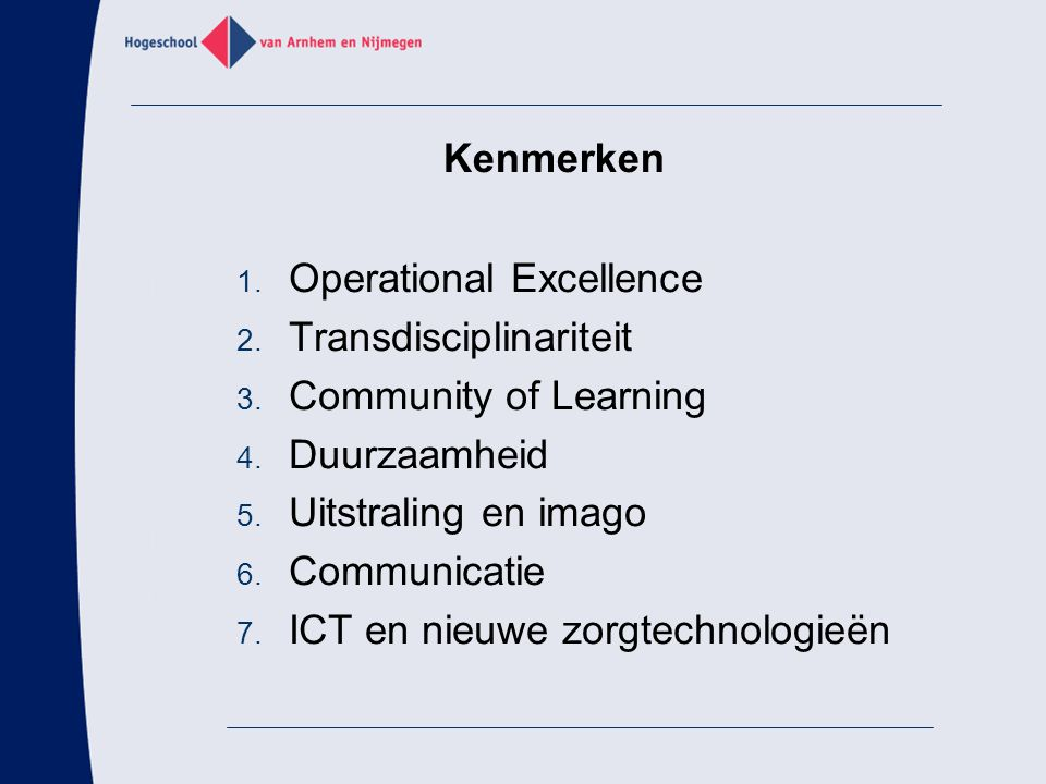 Operational Excellence Transdisciplinariteit Community of Learning