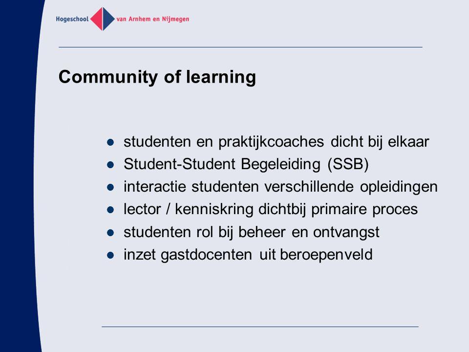 Community of learning studenten en praktijkcoaches dicht bij elkaar