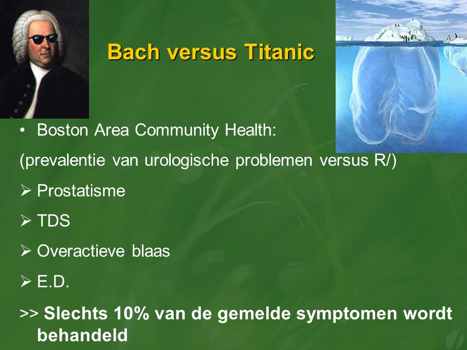 Bach versus Titanic Boston Area Community Health: