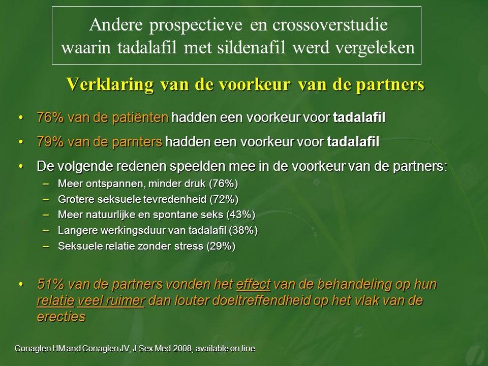 Verklaring van de voorkeur van de partners