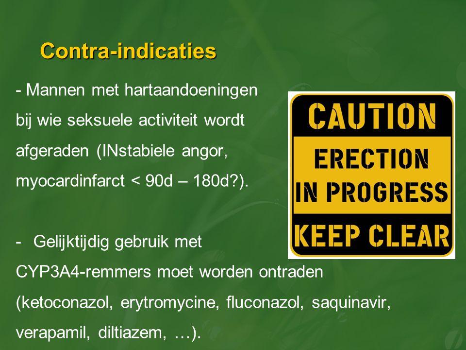 Contra-indicaties - Mannen met hartaandoeningen