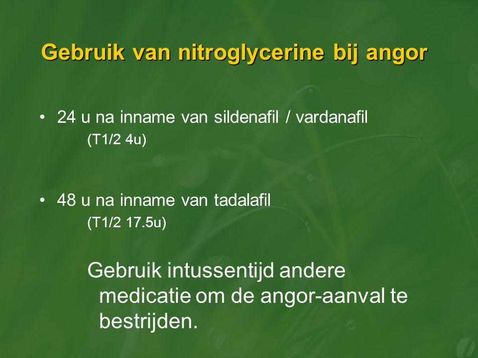 Gebruik van nitroglycerine bij angor
