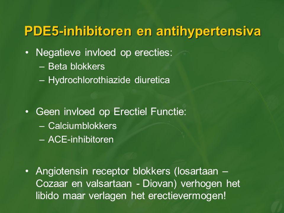 PDE5-inhibitoren en antihypertensiva