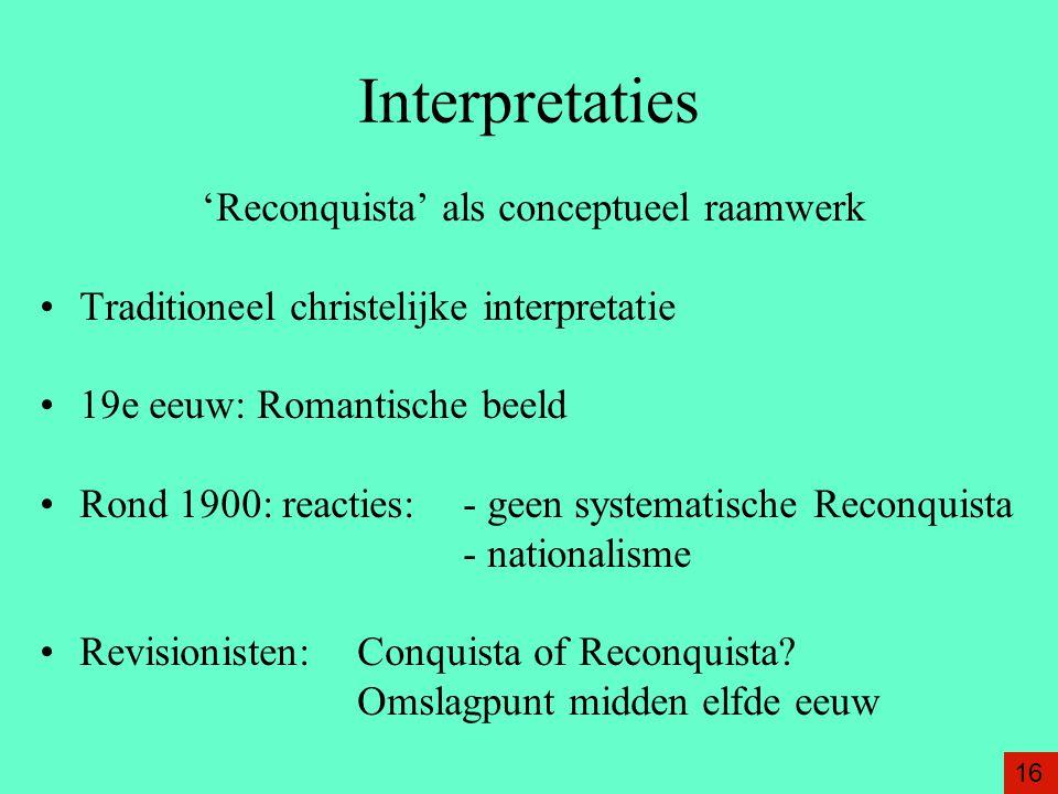 'Reconquista' als conceptueel raamwerk