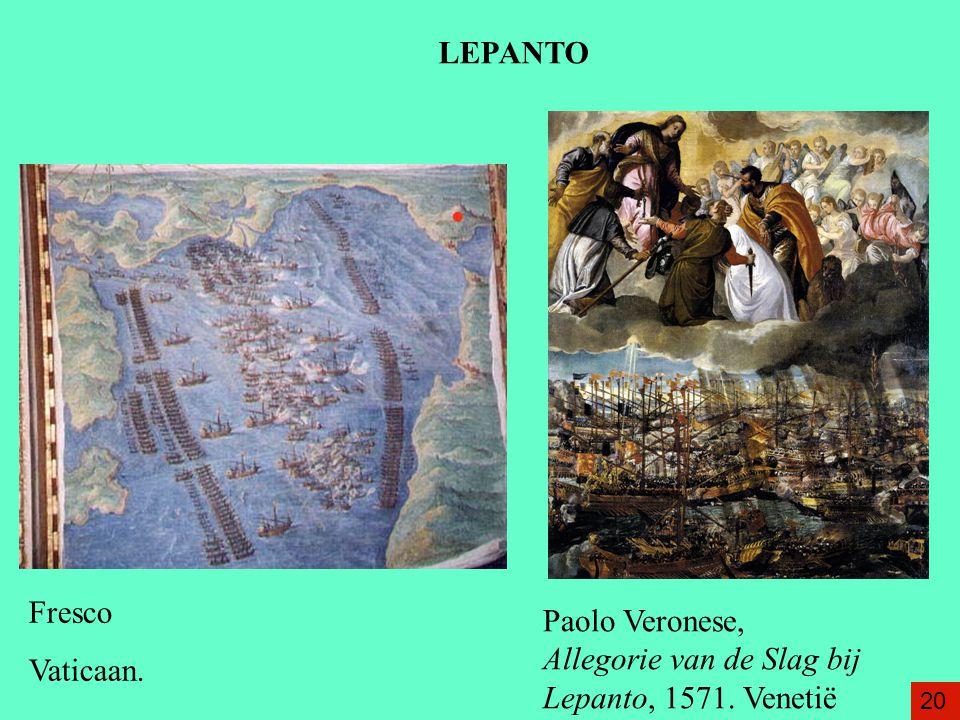 Paolo Veronese, Allegorie van de Slag bij Lepanto, 1571. Venetië