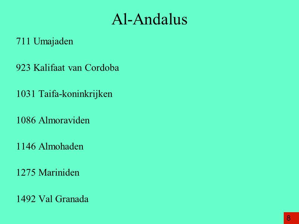 Al-Andalus 711 Umajaden 923 Kalifaat van Cordoba