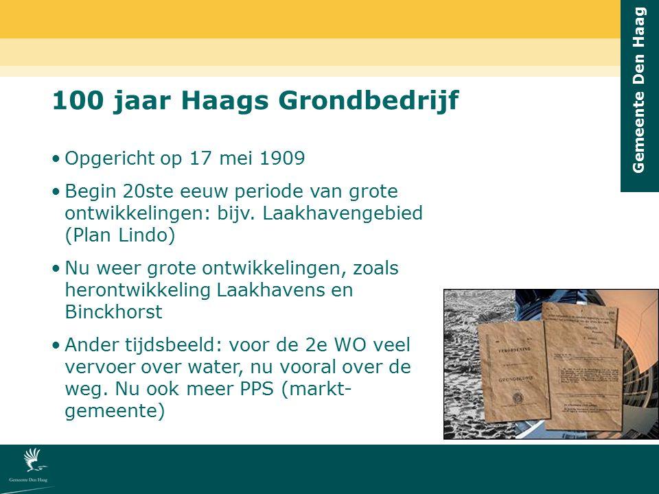 100 jaar Haags Grondbedrijf