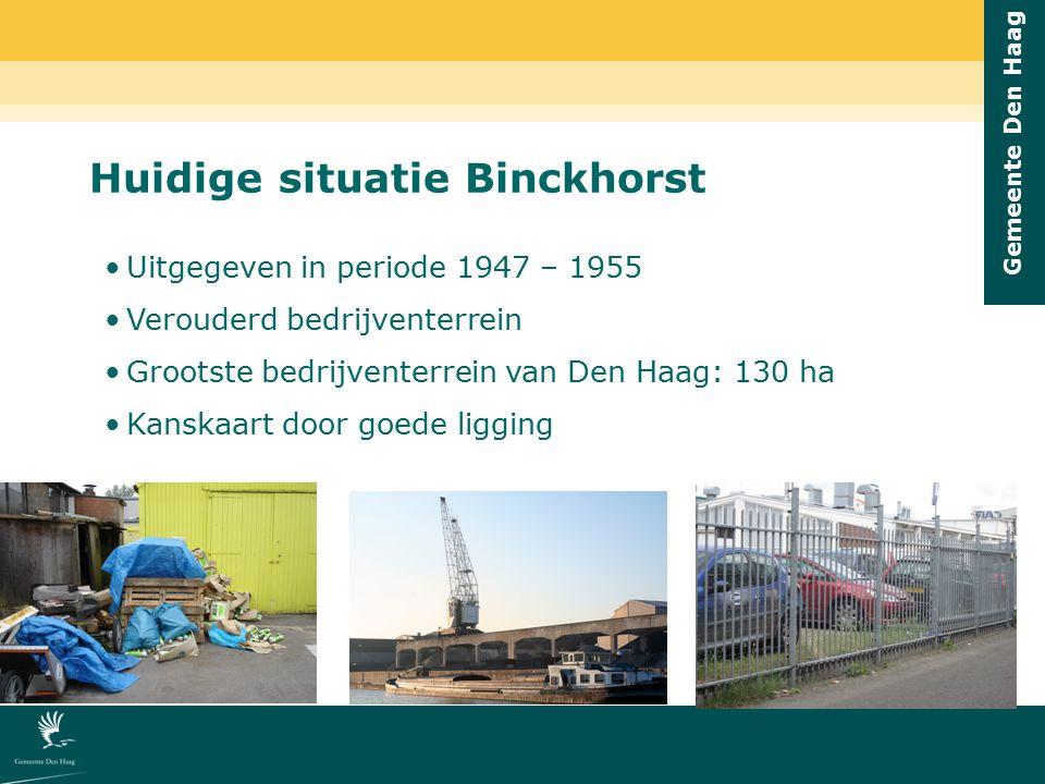 Huidige situatie Binckhorst