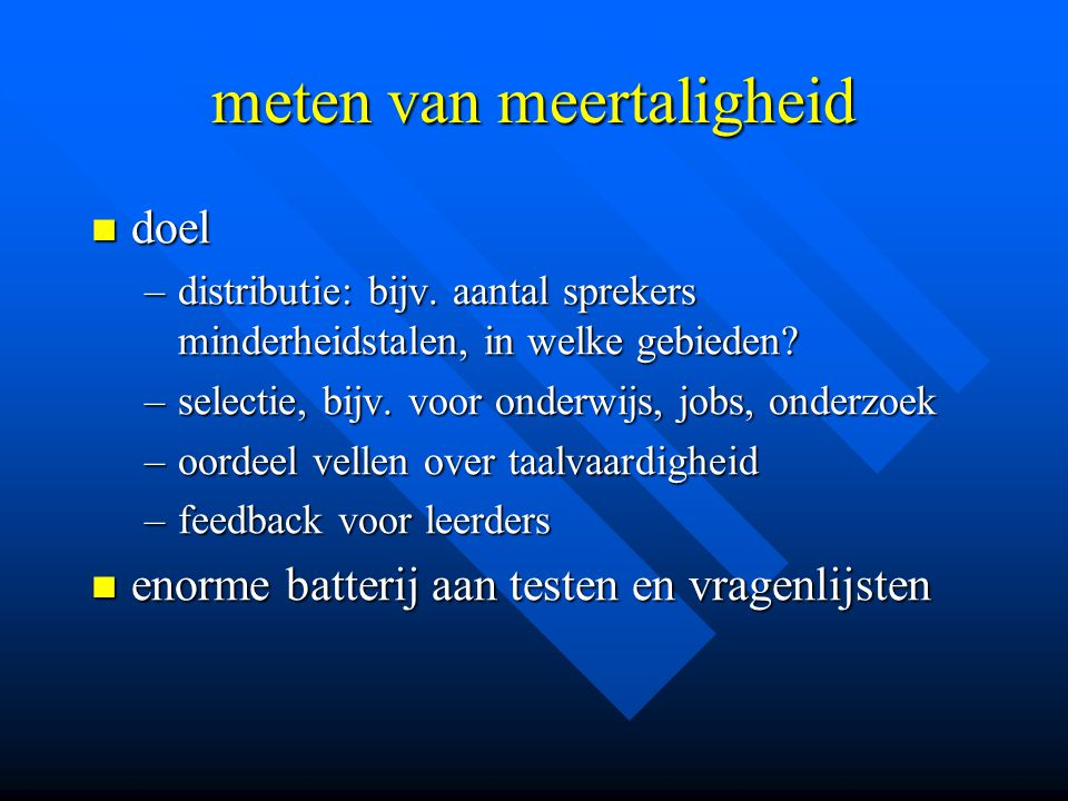 meten van meertaligheid