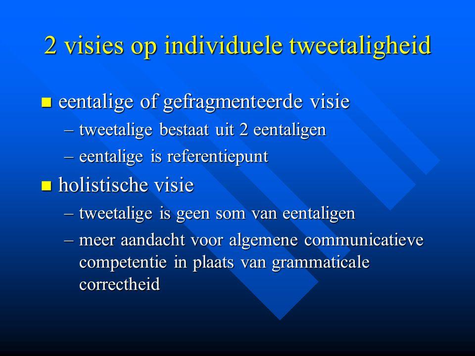 2 visies op individuele tweetaligheid