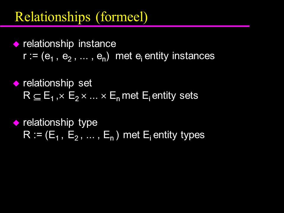 Relationships (formeel)