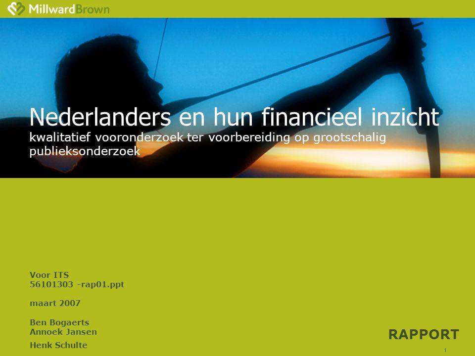 Nederlanders en hun financieel inzicht