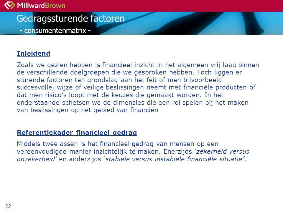 Gedragssturende factoren - consumentenmatrix -