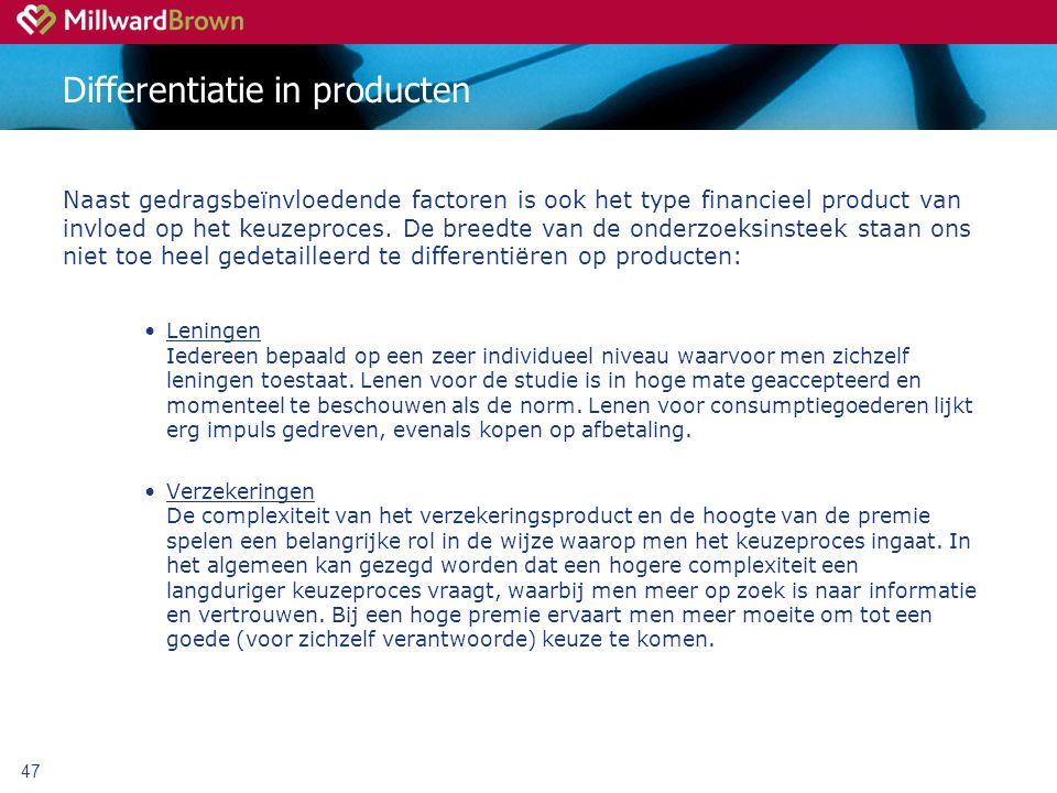 Differentiatie in producten