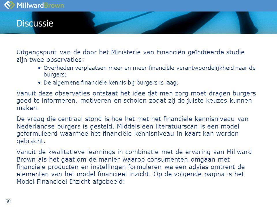 Discussie Uitgangspunt van de door het Ministerie van Financiën geïnitieerde studie zijn twee observaties: