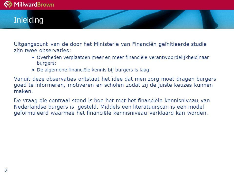 Inleiding Uitgangspunt van de door het Ministerie van Financiën geïnitieerde studie zijn twee observaties: