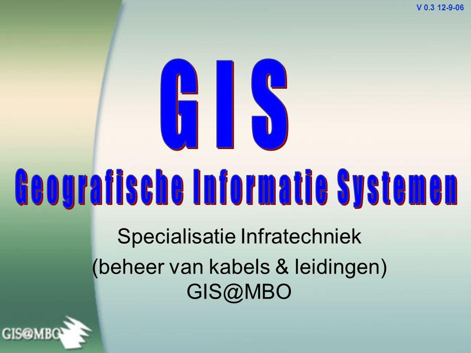 Specialisatie Infratechniek (beheer van kabels & leidingen) GIS@MBO