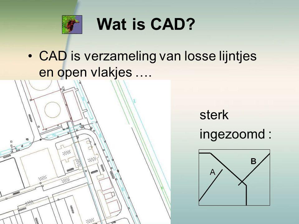 Wat is CAD CAD is verzameling van losse lijntjes en open vlakjes ….