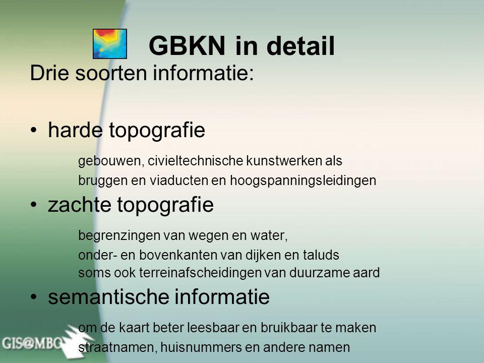 GBKN in detail Drie soorten informatie: harde topografie