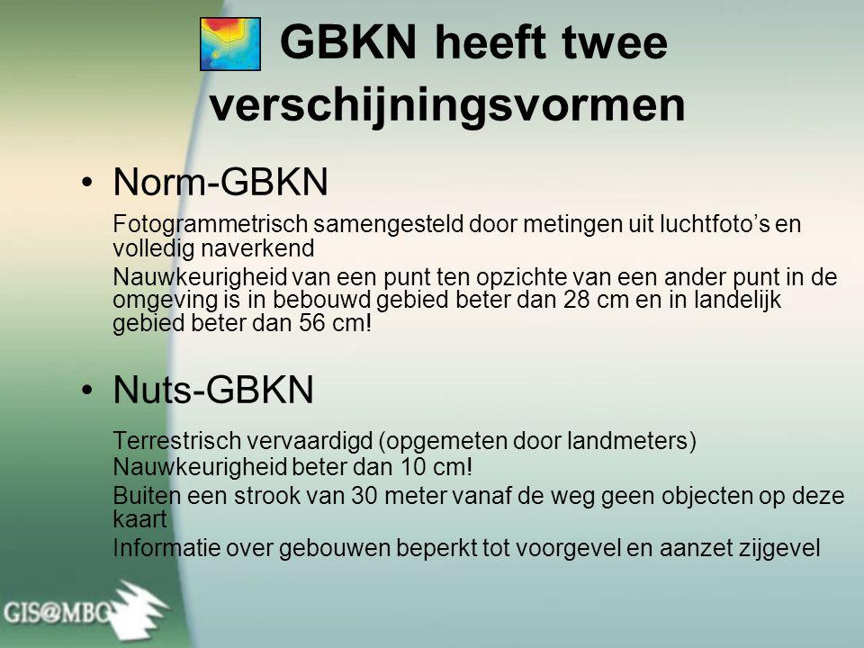 GBKN heeft twee verschijningsvormen