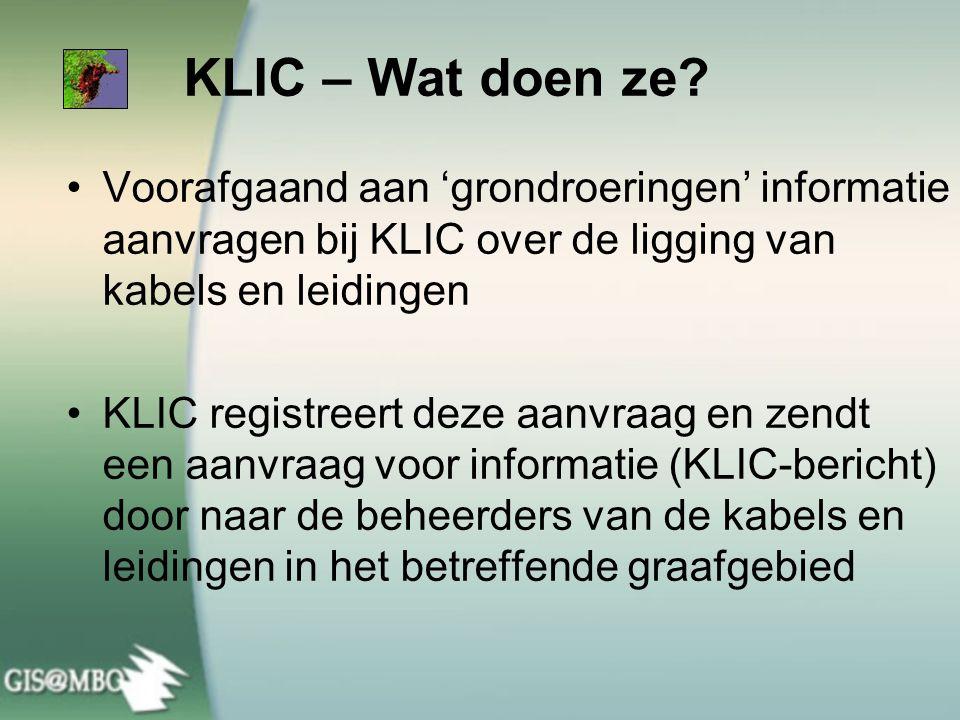 KLIC – Wat doen ze Voorafgaand aan 'grondroeringen' informatie aanvragen bij KLIC over de ligging van kabels en leidingen.