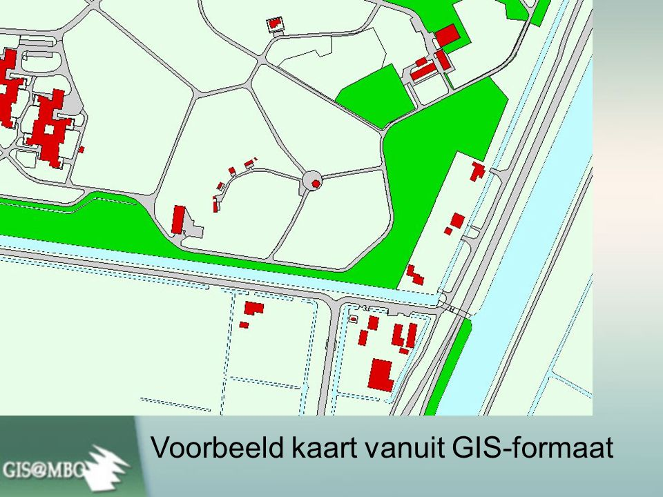 Voorbeeld kaart vanuit GIS-formaat
