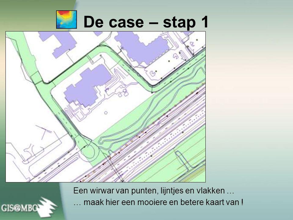 De case – stap 1 Een wirwar van punten, lijntjes en vlakken …