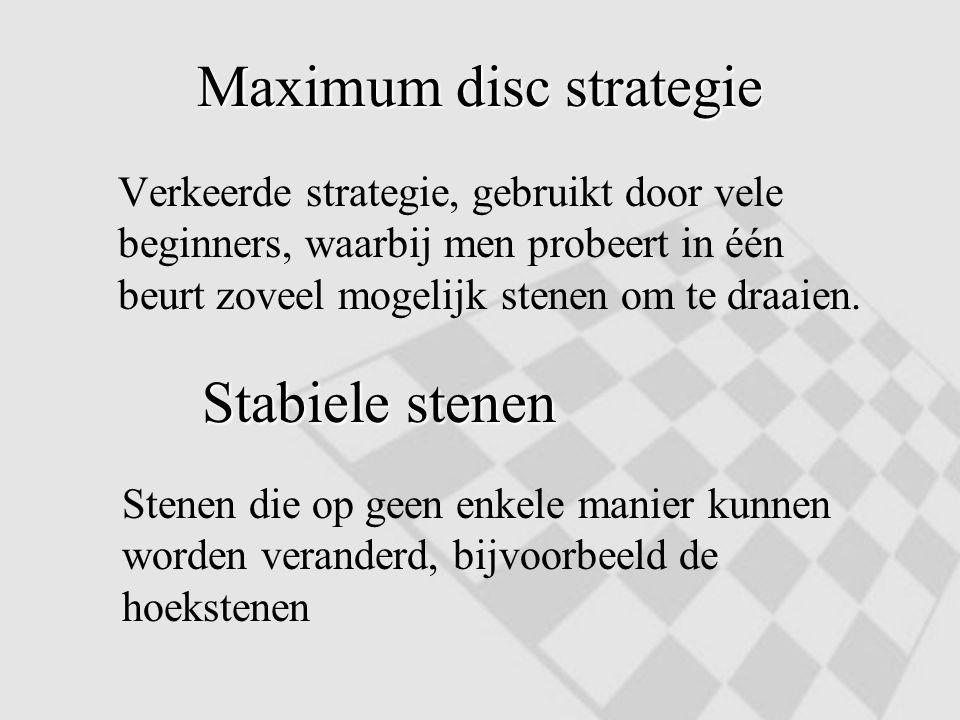 Maximum disc strategie