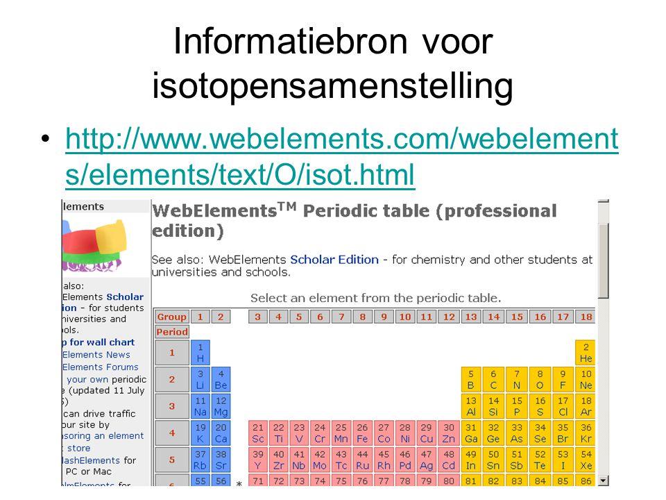 Informatiebron voor isotopensamenstelling