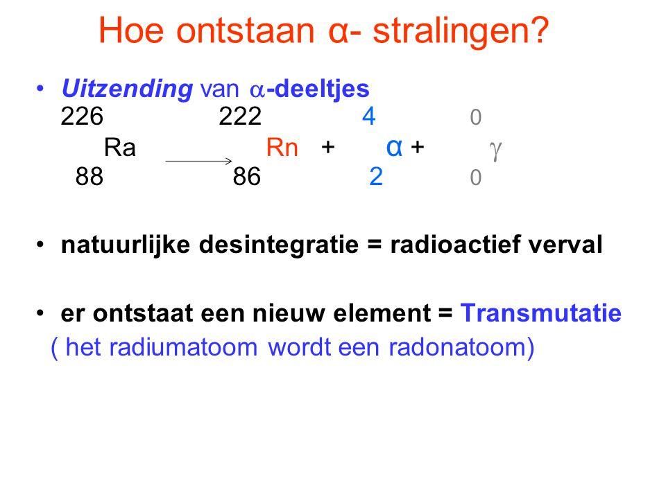 Hoe ontstaan α- stralingen