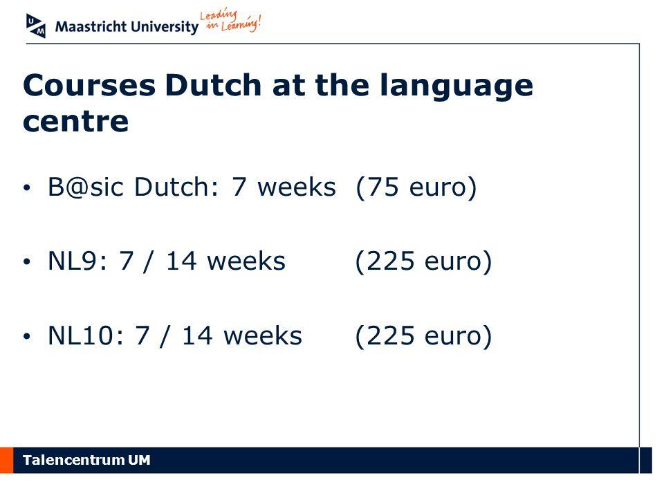 Courses Dutch at the language centre