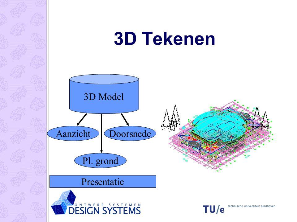 3D Tekenen 3D Model Aanzicht Doorsnede Pl. grond Presentatie