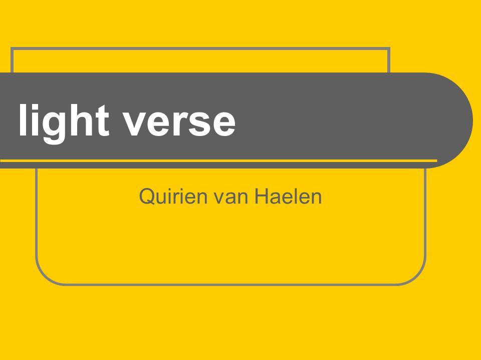 light verse Quirien van Haelen