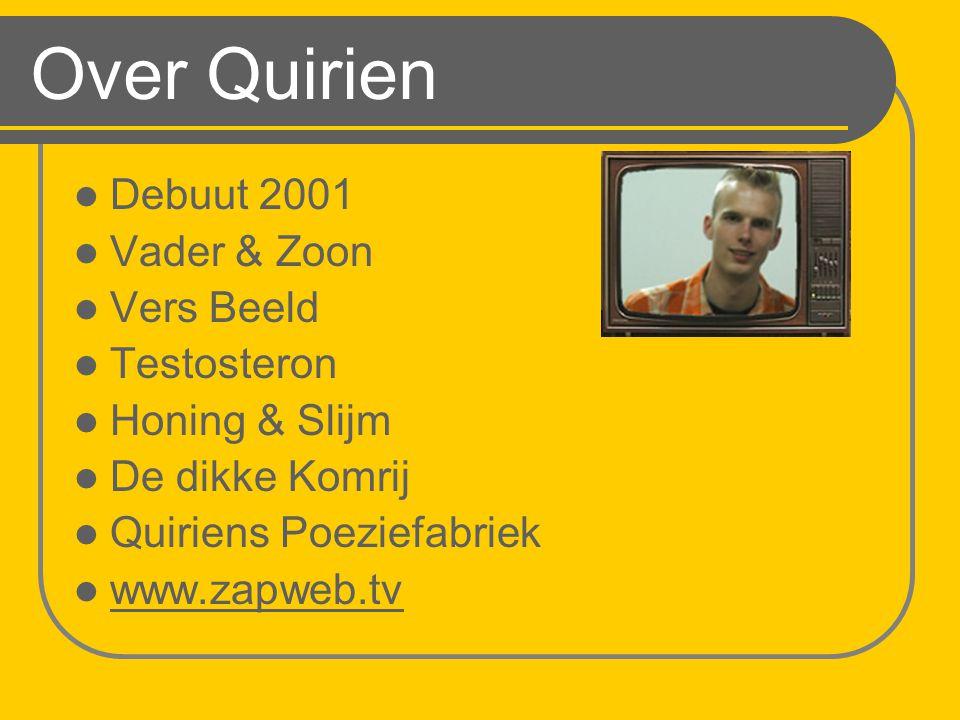 Over Quirien Debuut 2001 Vader & Zoon Vers Beeld Testosteron