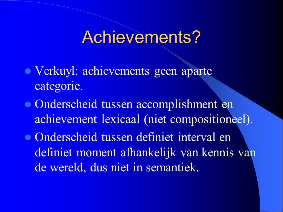 Achievements Verkuyl: achievements geen aparte categorie.