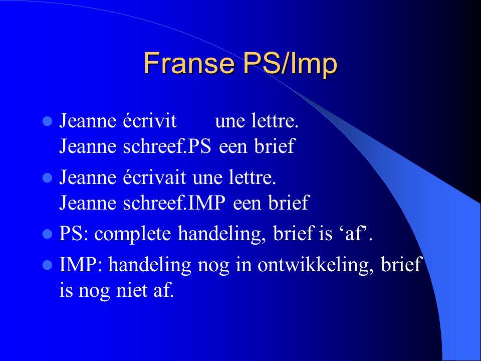 Franse PS/Imp Jeanne écrivit une lettre. Jeanne schreef.PS een brief