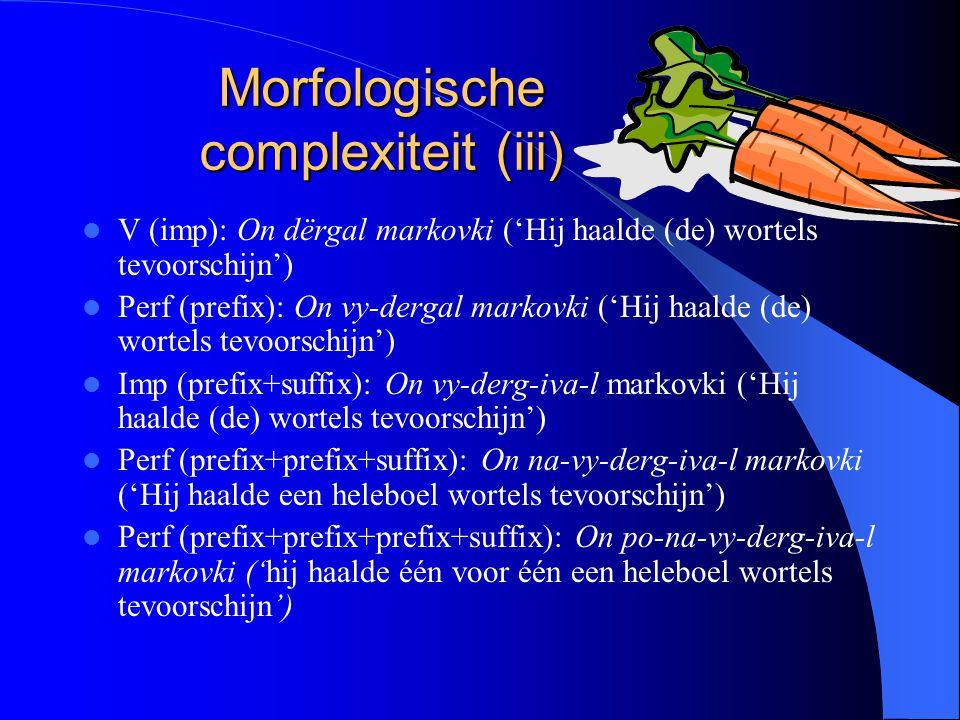Morfologische complexiteit (iii)