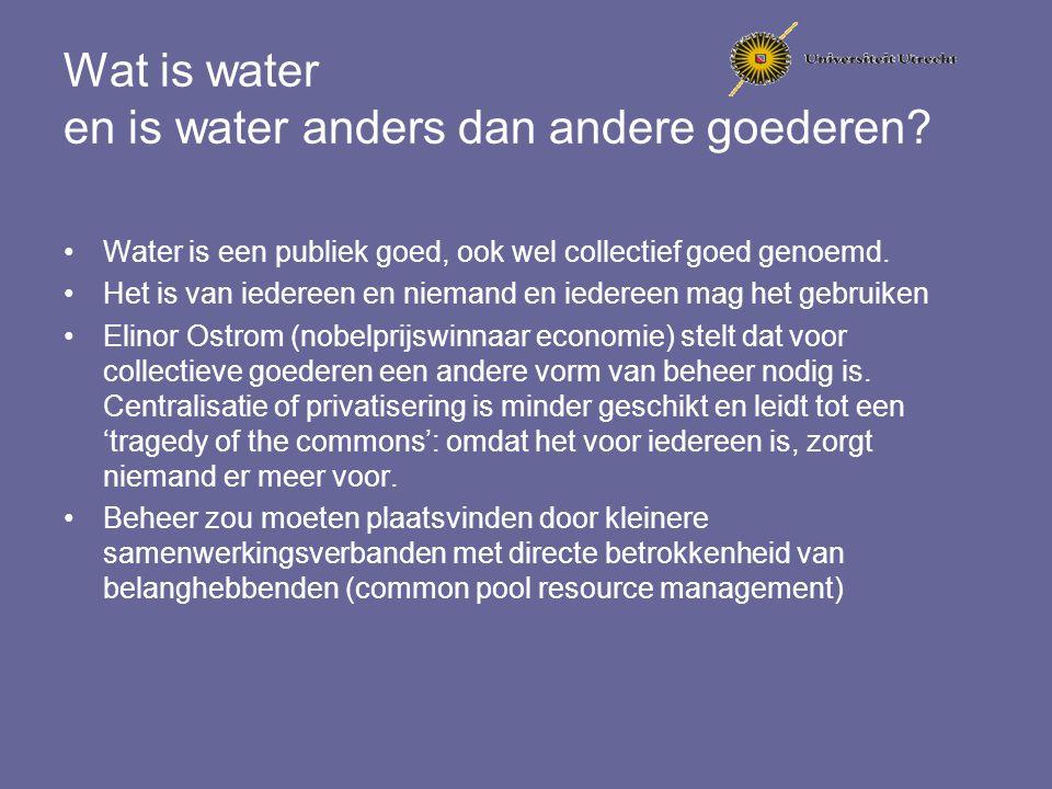 Wat is water en is water anders dan andere goederen