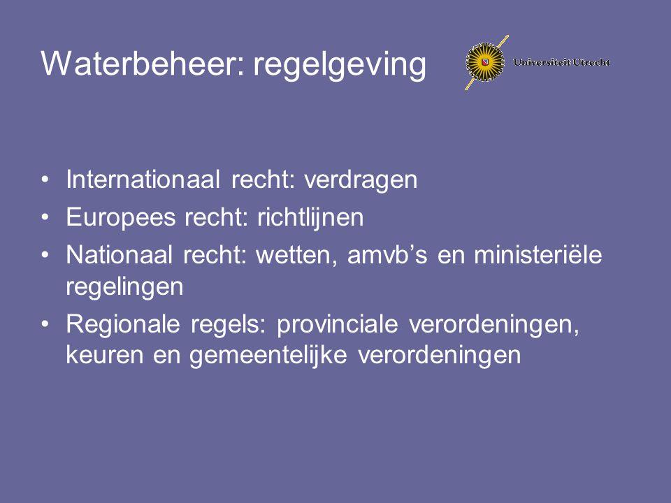Waterbeheer: regelgeving