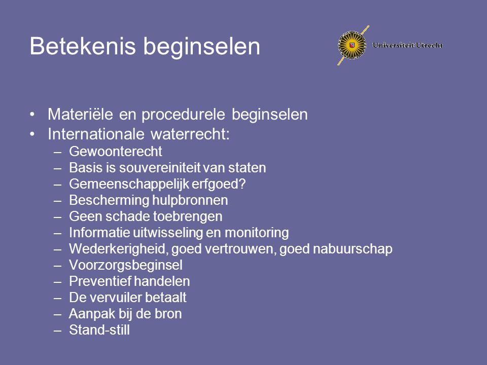 Betekenis beginselen Materiële en procedurele beginselen